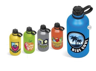 Ava Water Bottle - Avail in: Cyan, Grey, Lime, Orange or Yellow