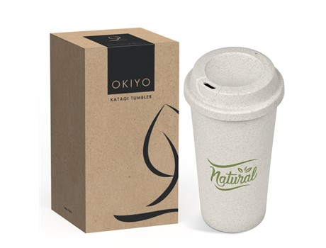 Okiyo Eco Friendly Katagi Wheat Straw Tumbler - 450Ml