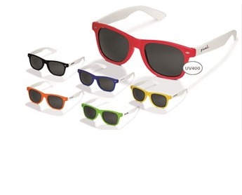 SunnyVale Sunglasses - Black, Blue, Lime, Orange, Red or Yellow