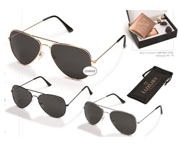Crossfield Sunglasses - Black, Copper or Silver