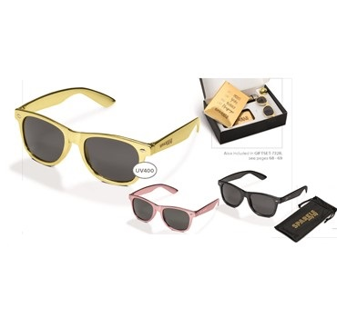 Malibu Sunglasses - Gold, Gun Metal or Pink