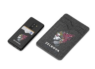 Aurora Double Phone Card Holder - Grey
