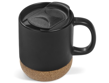 Sienna Cork Mug - Black