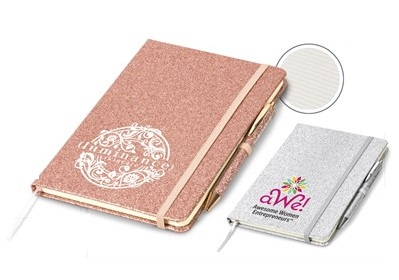 Sparkle A5 Notebook - Avail in: Rose Gold or Silver