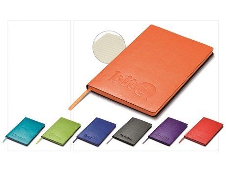 Showcase A5 Notebook - Cyan, Blue, Grey, Lime, Orange, Purple or