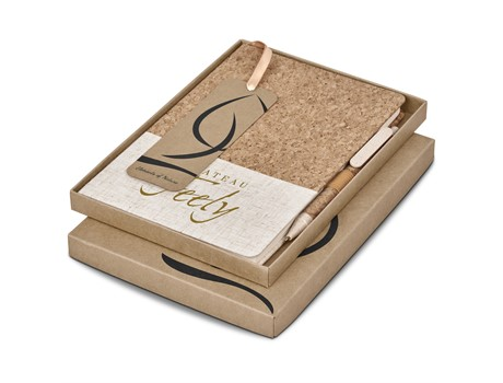 Okiyo Eco Friendly Cardon Cork A5 Notebook Giftset