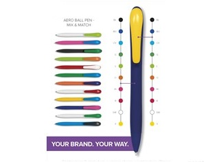 Aero Ball Pen - Avail in: Black, Blue, Cyan, Green, Lime, Orange