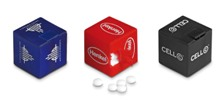 Peppermint Cube - Avail in Blue, Red, Black, White, Green or Ora