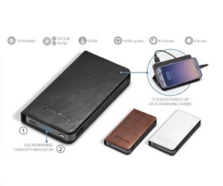 Spector Executive 6000Mah Power Bank - Avail in: lack, Brown or