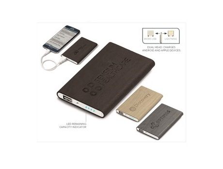 Oakridge Slim 4000mAh Power Bank - Beige, Bron or Grey