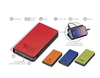 Spector Brite 6000Mah Power Bank - Avail in: Blue, Lime, Orange