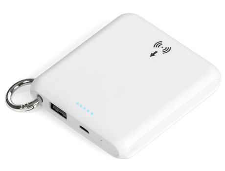 Iconic 5000mAh Wireless Power Bank - White