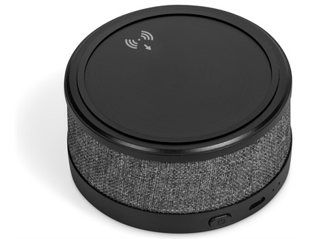 Aberdeen Wireless Charger & Bluetooth Speaker - Grey
