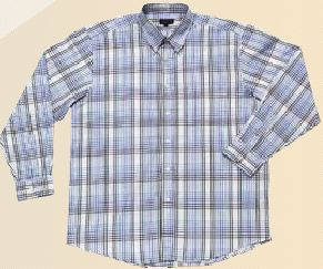 100% cotton Raised Check Shirt.  Short and long sleeves  - White