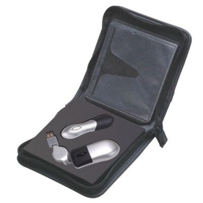 Gift set: USB storage drive pointer & mouse - 1 Gig