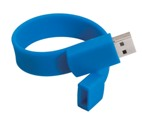 USB storage drive wrist band - 4 Gig - Available in Blue or Oran