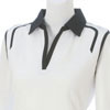 Ladies Tina Golf Shirt - White/Black