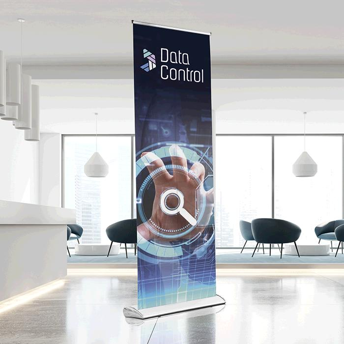 Pull Up Banner Luxury - BNW 0.85m x 2.00m Chrome