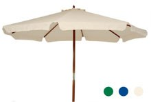 3m Round Wooden Umbrella. – Beige