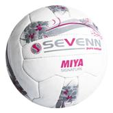 Sevenn Miya Signature Netball Ball - Avail in: White/Silver/Pink