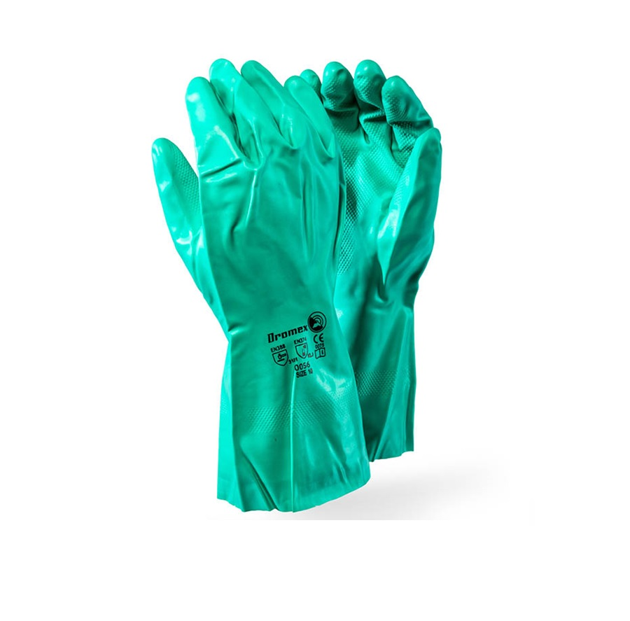Chemical Nitrile Gloves Elbow Length - Green.. Min 150 Units
