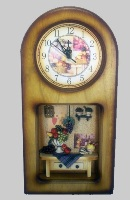 Wooden Wall Clock with Kitchen Theme - 43cm High