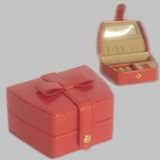 Coral Shiny PU Pink Jewellery Box 5 * 10 * 9.5cm