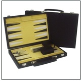 Water Weave Design Backgammon Set 12 inch