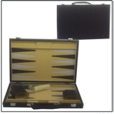 Water Weave Design Backgammon Set 15 inch