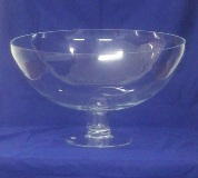 Footed Glass Bowl - 28 * 46cm