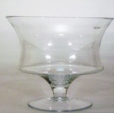 Footed Glass Bowl 22.5 cm High