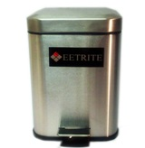 Stainless Steel Square Pedal Bin 5L