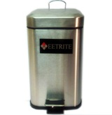 Stainless Steel Square Pedal Bin 12L