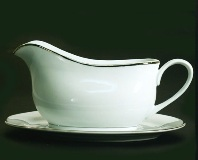Just Platinum Gravy Boat with Saucer