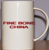 Bone China White Coffee Mug
