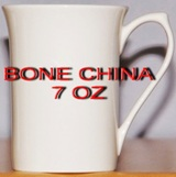 Case 48 - White Fine Bone China Coffee Mug