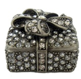 Blingie Ribbom Jewellery Box 3*4.5*4.5cm
