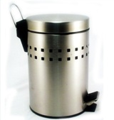 Stainless Steel Round Pedal Bin 3L