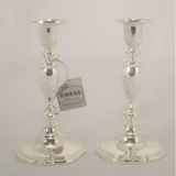 Silver Plated Candle Sticks - 18cm