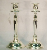 Silver Plated Candle Sticks - 29cm