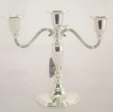 Silver Plated Candle Holder - 19cm