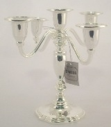 Silver Plated Candles Holder - 20cm