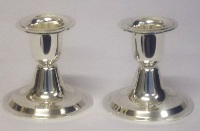 Silver Plated Candle Sticks - 6.5cm