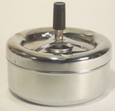 Round Stainless Steel Ashtray - No Smoke