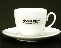 White Tea Cup & Saucer - Just White