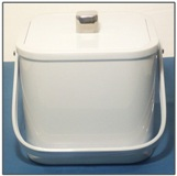 Sqaure white Plastic Ice Bucket - 2 L
