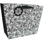 Set 6 Gift Bags - Black Floral Large