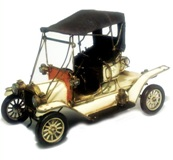 Model Motorcar White - Ford Modle T 14*35cm