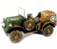 Model Motorcar Green American Jeep 18.5*35*17cm