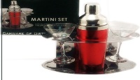 Cocktail Set - Shaker with 2 Martinit Glasses
